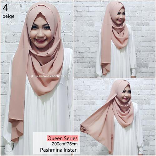 Pashmina Hijab Instan Queen Series Beige | No. 4
