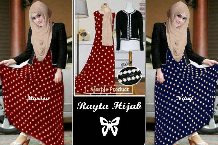 Rayta Hijab red, dark blue