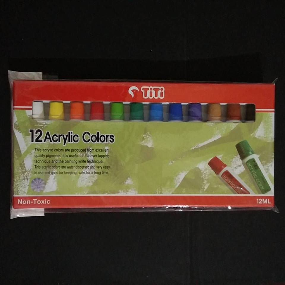 Cat Akrilik Titi 12 Warna AC-12ML-12
