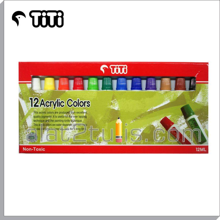 Acrylic Colors 12 Warna 12ml