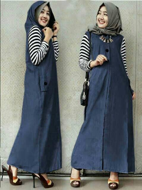 hijab hoddie navy