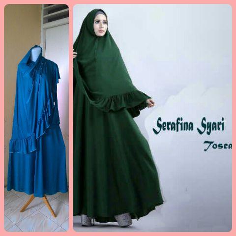 Gamis Syari Terbaru Serafina Tosca (cantik murah modis)