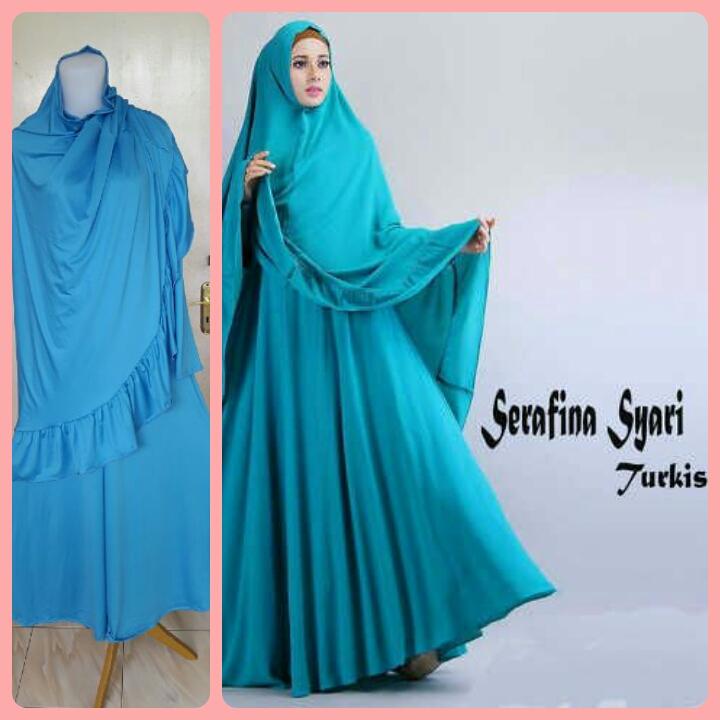 Gamis Syari Terbaru Serafina Turkish (cantik murah modis)