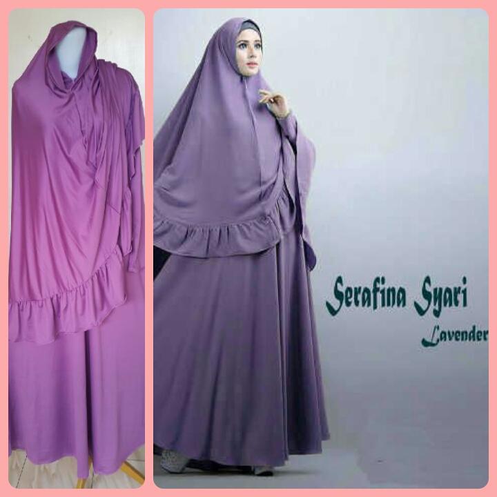 Gamis Syari Terbaru Serafina Lavender (cantik murah modis)