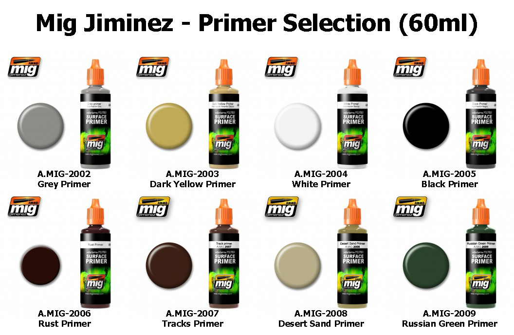 MIG Acrylic Paint (60ml) : Primer Selection