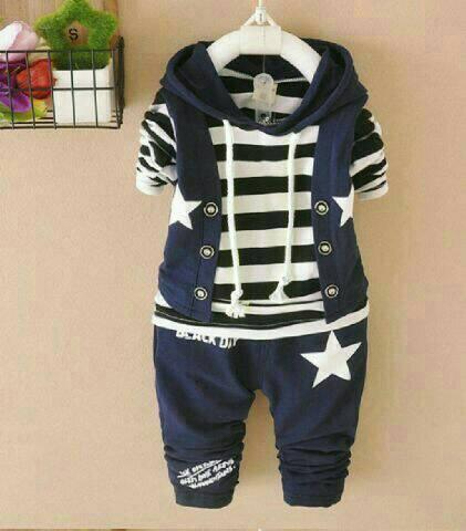 Jual set starkid Pakaian Anak Cowo Baju Anak Laki Laki Setelan Baju Anak .