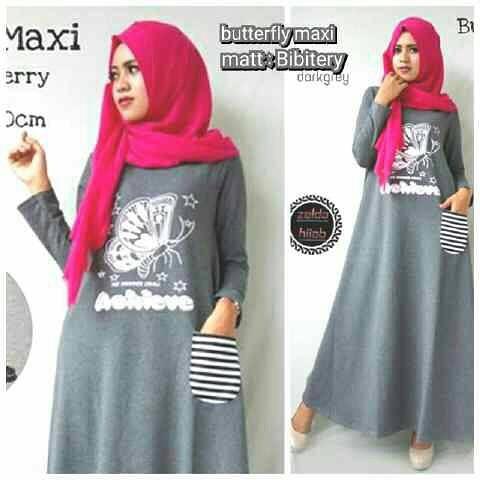 Baju Hijab Murah Buterfly Maxy