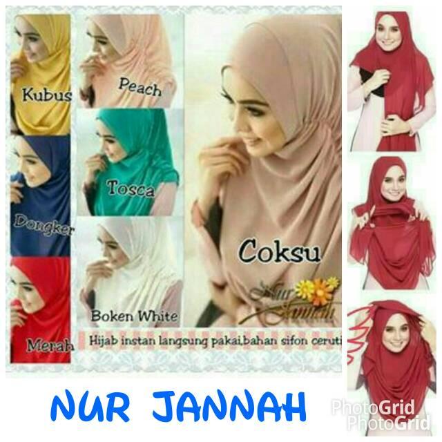Hijab / Jilbab Instan Jur Jannah / Pastan Nur Jannah