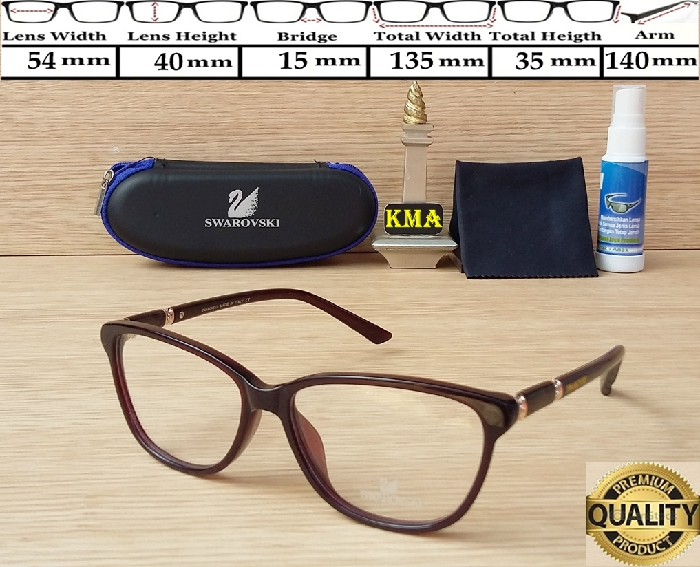 Jual kacamata minus   frame swarovski   kacamata swarovski SW 5164 premium  - Aershop  b5b642cb76