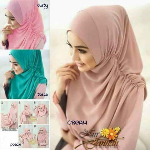 Pastan Nurja - Pastan Nurja Instankhimar kerudung hijab bergo