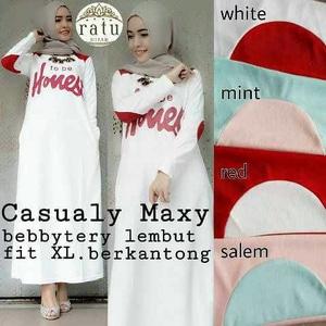 Qasualy Maxy/Baju Muslim Murah/Dress Hijab/Tunik/Cewek/Terbaru/Gamis