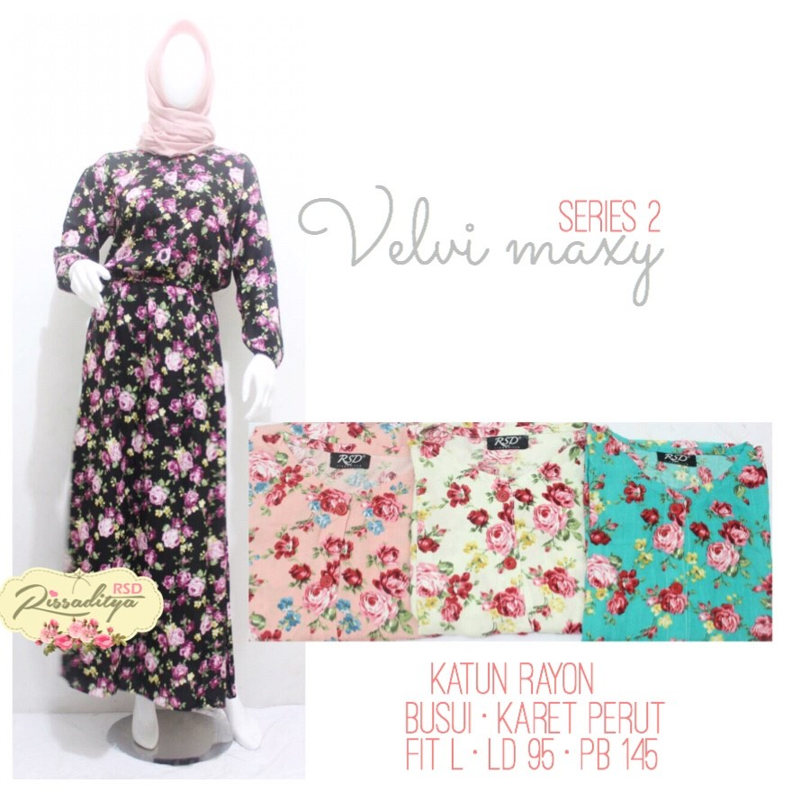 VELVI MAXI DRESS FASHION HIJAB