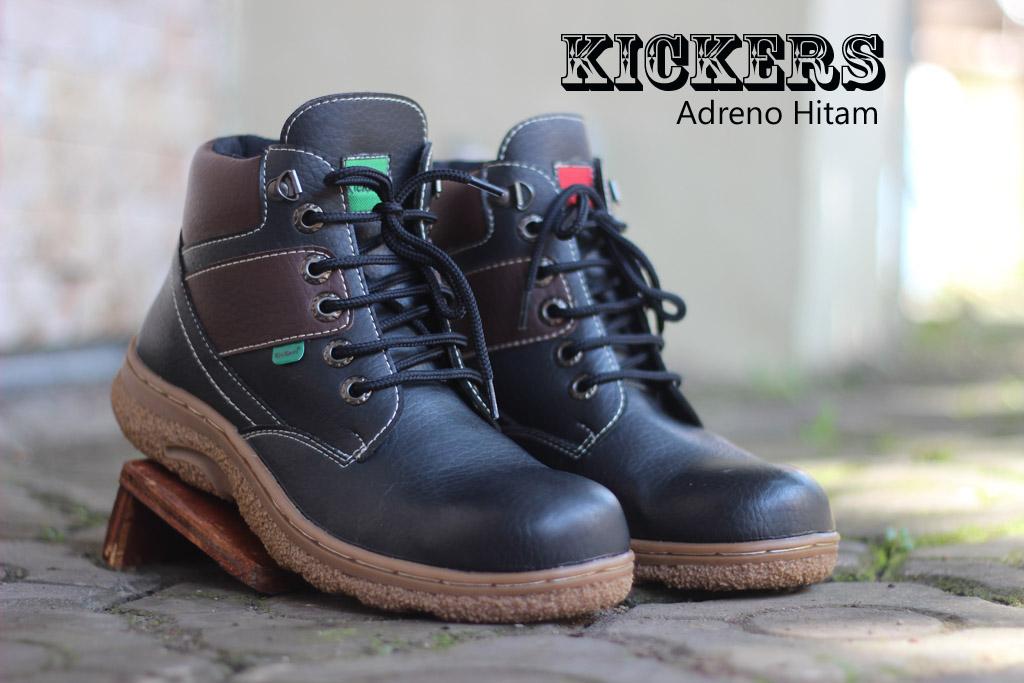 Sepatu Kickers Safety Pria Adreno Hitam