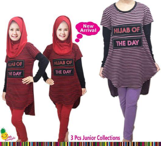 Baju Muslim Anak Perempuan. Setelan Baju Anak Hijab Of The Day