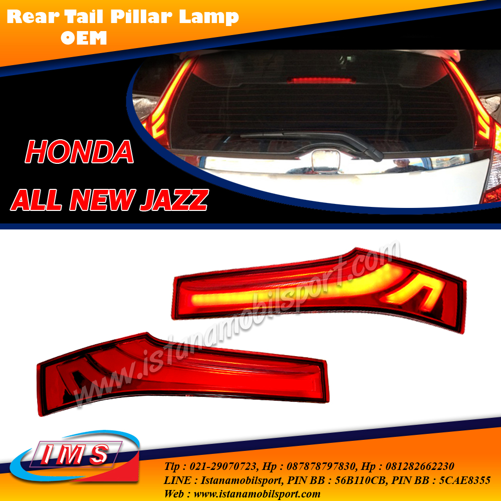 Rear Reflektor With Led Bar All New Jazz Gk5 2014 - Up