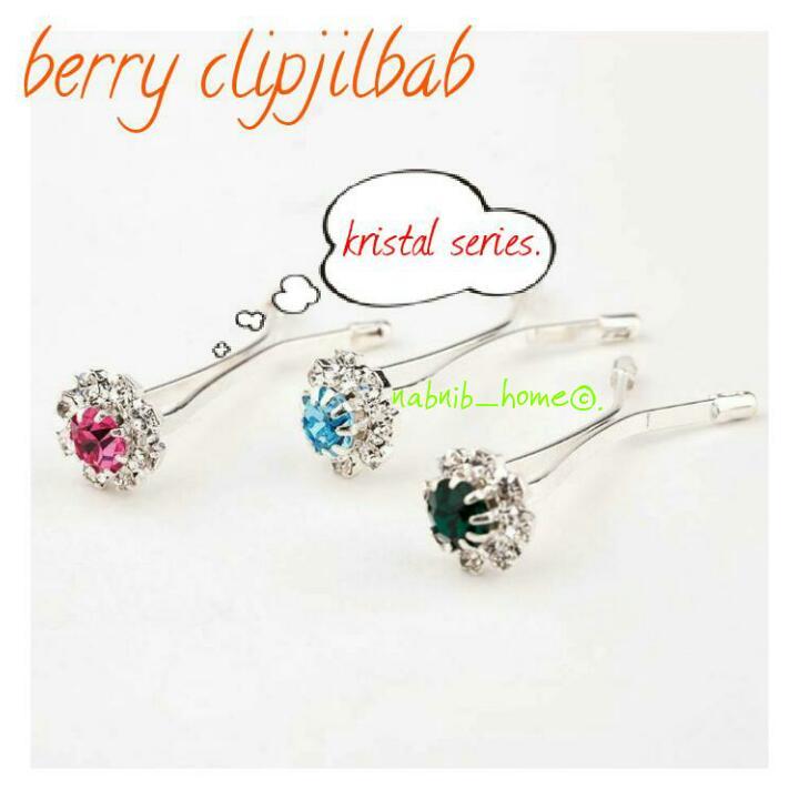klip jilbab / clip hijab / kristal series
