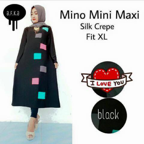 mini maxy / tunic / tunik / baju panjang / baju hijab muslim /
