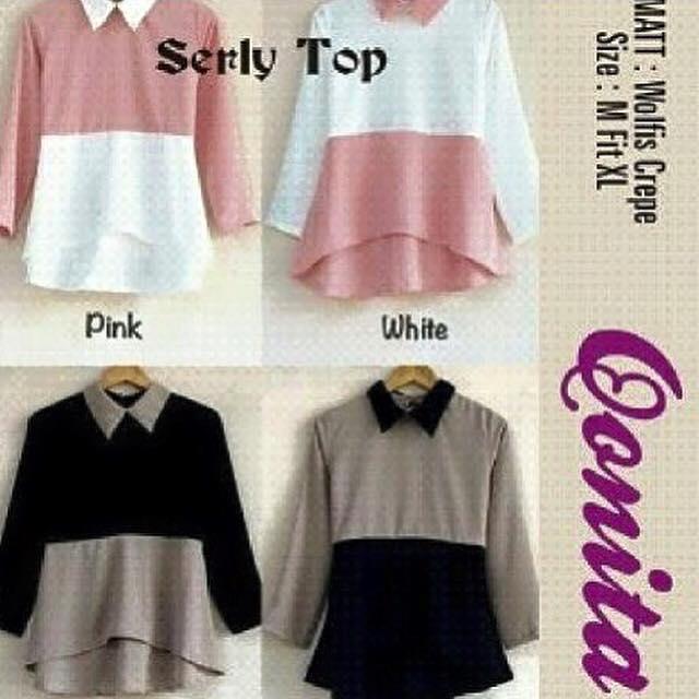 Serly top / atasan lengan panjang / blouse / baju cewe / muslim hijab