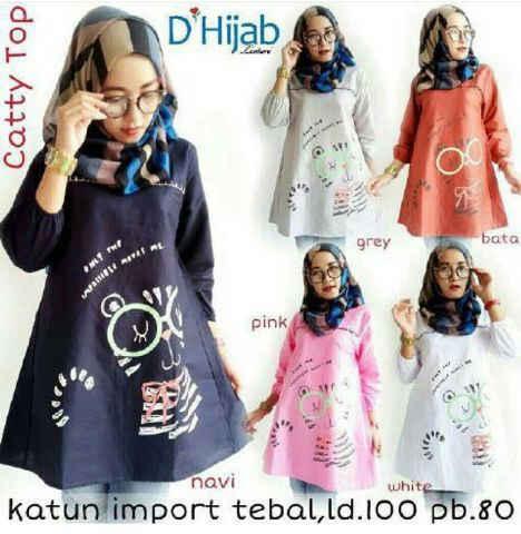 catty top bhn katun paris /blouse/atasan/muslim/hijab)