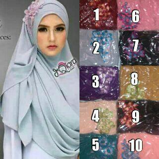 pastan Qiara jersey khimar /kerudung/hijab/pasmina/syari