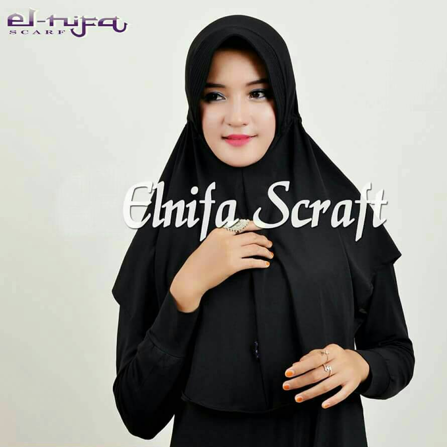 Hijab Serut Polos Black