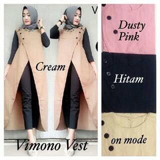 Baju Hijab Murah Vimono Vest