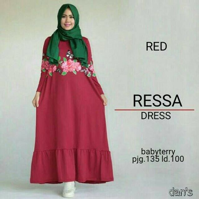 Baju Hijab Murah Ressa Dress