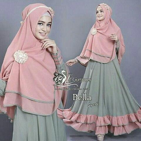 Hijab Syari Bella Green
