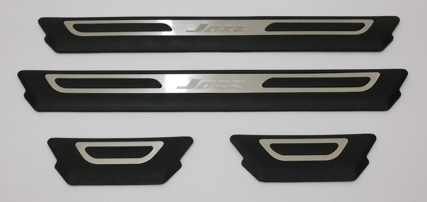 Sill Plate Samping New Jazz Hitam Chrome