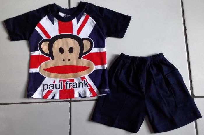STKDK148 - Setelan Anak Kecil Paul Frank England Blue Navy