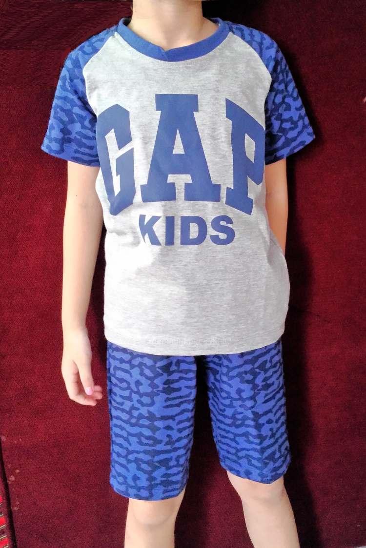 STKDL178 - Setelan Anak Selutut GAP Kids Blue