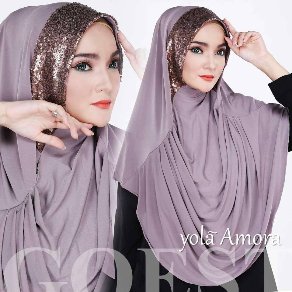 khimar / bergo /hijab /jilbab syari yola amora