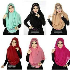 khimar / bergo / hijab /jilbab / pashmina instan athalia diamond