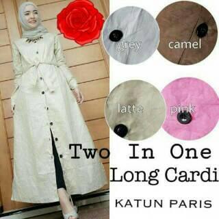long cardi / long vest outer hijab