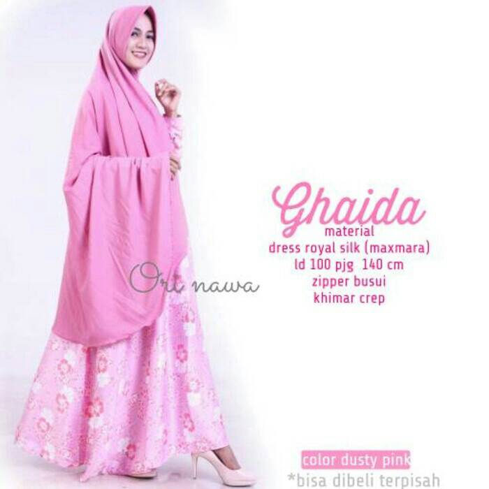 supplier hijab : GHAIDA DRESS BY NAWA