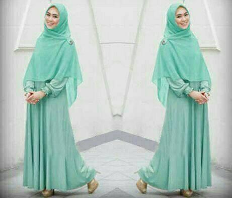 Hijab Oki / Baju muslim busui / Gamis Syari