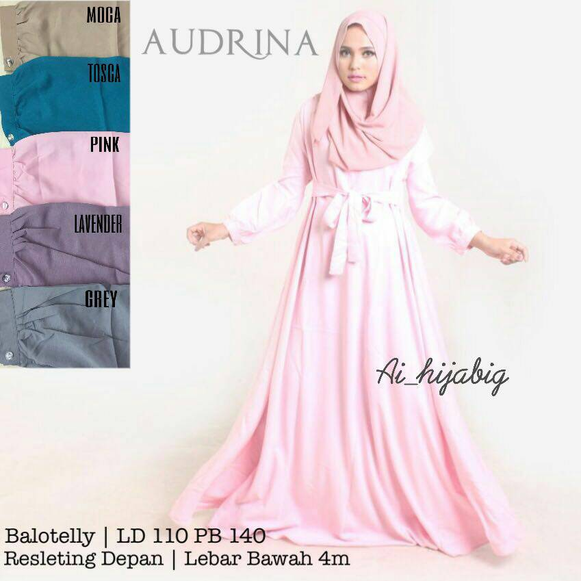 hijab gamis audrina balotelly xl jumbo busui dropship supplier