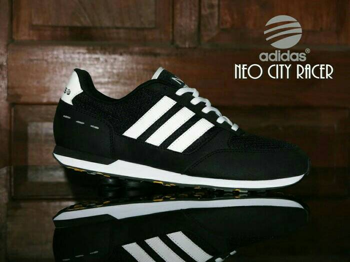 Jual Sepatu ADIDAS NEO CITY RACER HITAM PUTIH PRIA SPORT ... b0a5965e31