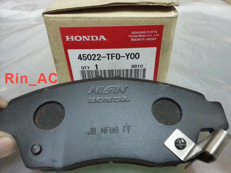Kampas Rem / Brake Pad Depan Honda Jazz RS '09-'13 / City '09-'13