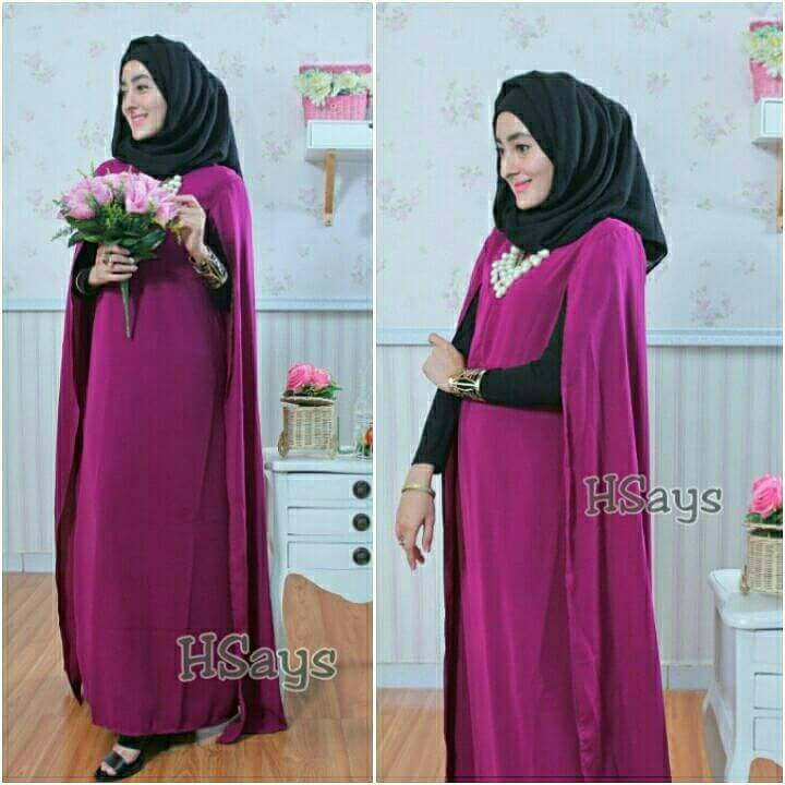 SUPPLIER BAJU HIJAB CAPE DRESS HS