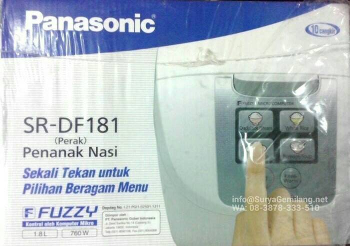 Panasonic - Rice Cooker Digital SR - DF181 ( 1,8 ) liter