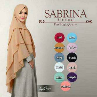 Khimar Sabrina / Hijab / Jilbab / Kerudung