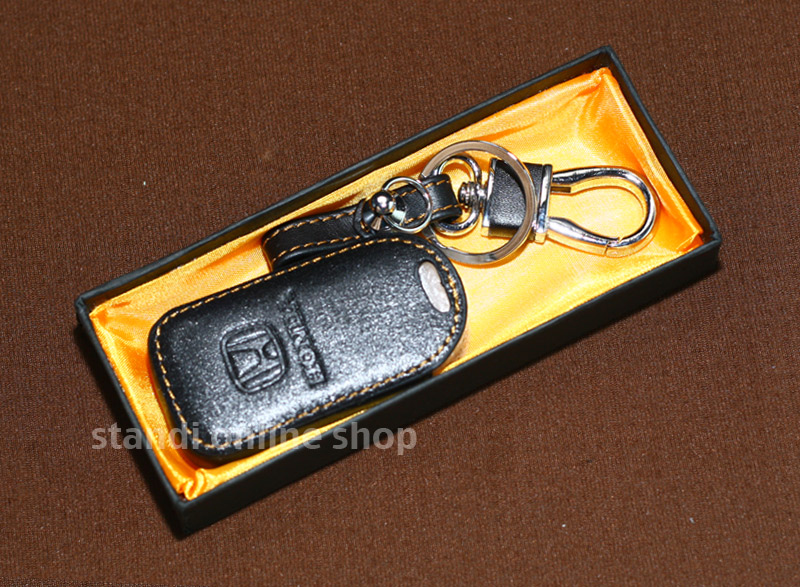 Leather Key Case Sarung Kunci Kulit Honda HRV HR-V All New Jazz