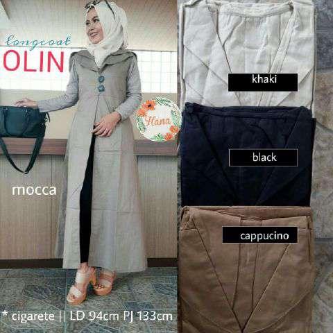 Blazer Hijab Murah - Long Coat Olin