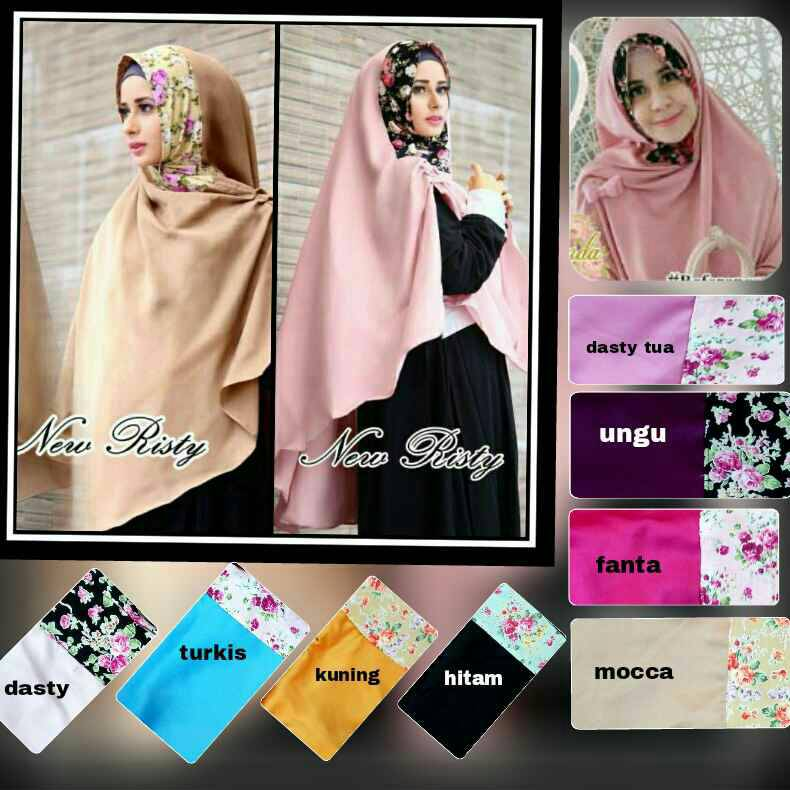 Khimar Risty Flower / Hijab / Jilbab / Kerudung