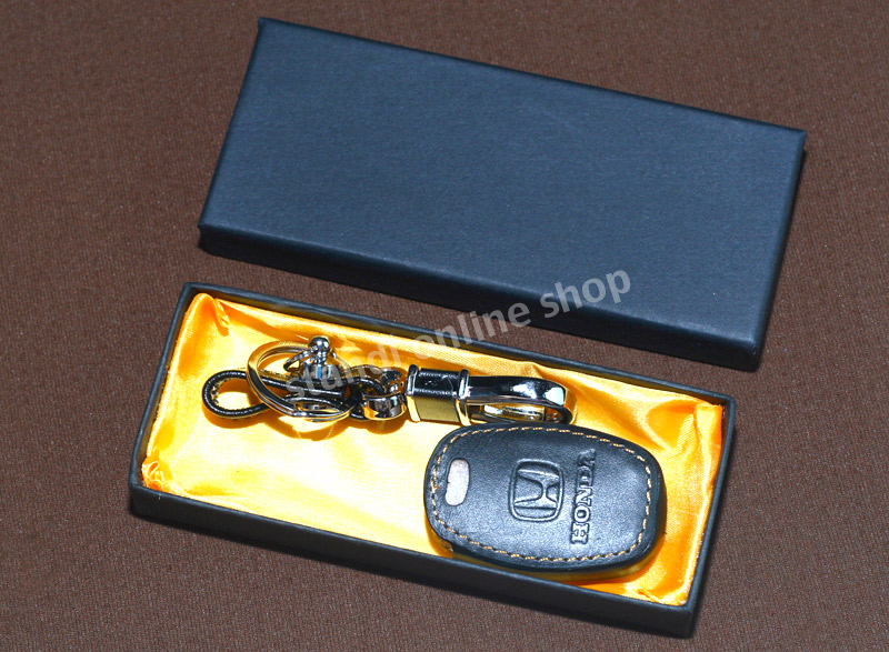 Leather Key Case Sarung Kunci Kulit Honda Mobilio Brio CR-V Jazz