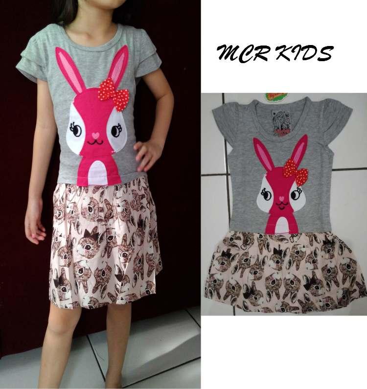 DRKD95 - Dress Anak Misty Rabbit Pink