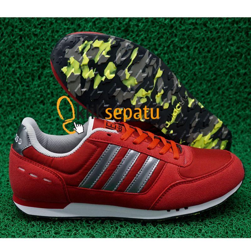 ... low cost jual sepatu adidas neo sepatu adidas neo city racer merah lis  silver kliksepatu tokopedia c3931638fd
