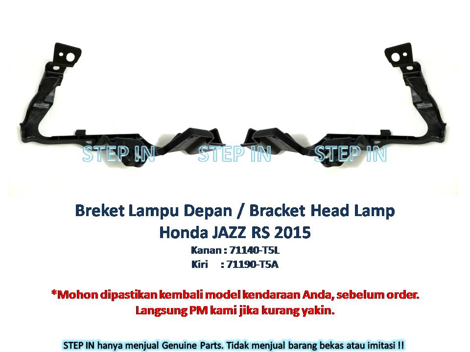 Breket Lampu Depan / Bracket Head Lamp Honda Jazz 2015 baru genuine