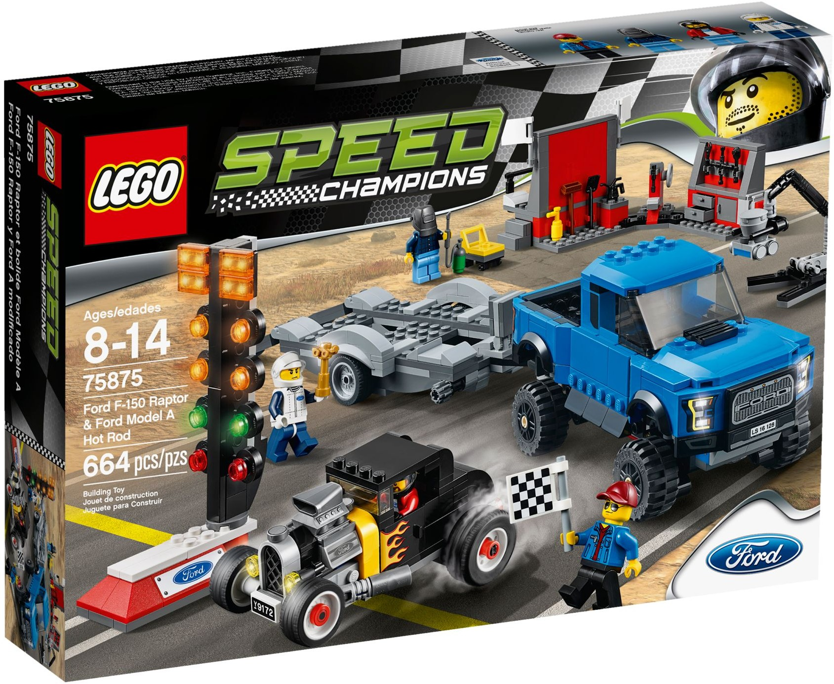 LEGO #75875 SPEED CHAMPION Ford F-150 Raptor & Ford Model A Hot Rod